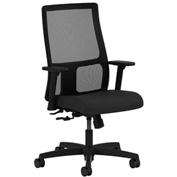 HON® HONIT106CU10 Ignition Adjustable Arm Low-Back Task Chair Black