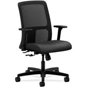 HON® HONIT106NR10 Ignition Adjustable Arm Low-Back Task Chair Onyx