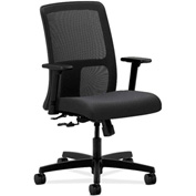 HON® HONIT106NT19 Ignition Adjustable Arm Low-Back Task Chair Charcoal