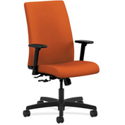 HON® HONIW102CU46 Ignition Adjustable Arm Mid-Back Task Chair Tangerine Polyester