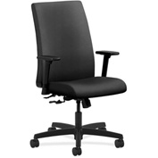 HON® HONIW102NR10 Ignition Adjustable Arm Mid-Back Task Chair Onyx Polyester