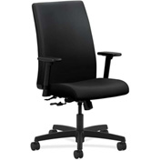 HON® HONIW102UR10 Ignition Adjustable Arm Mid-Back Task Chair Black Polyurethane