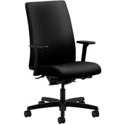 HON® HONIW104AB10 Ignition Adjustable Arm Mid-Back Task Chair Black Olefin