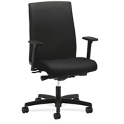 HON® Task Chair with Arms and Synchro Tilt - Fabric - Mid Back - Black - Ignition Series