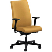 HON® Task Chair with Arms and Synchro Tilt - Fabric - Mid Back - Mustard - Ignition Series