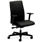HON® HONIW104NT10 Ignition Adjustable Arm Mid-Back Task Chair Black Polyester
