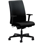 HON® Task Chair with Arms and Synchro Tilt - Polyurethane - Mid Back - Black - Ignition Series