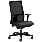 HON® Mesh Task Chair with Arms & Synchro Tilt - Fabric - Mid Back - Onyx - Ignition Series