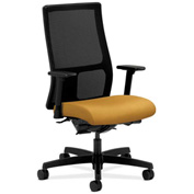 HON® Mesh Task Chair with Arms & Synchro Tilt - Fabric - Mid Back - Mustard - Ignition Series