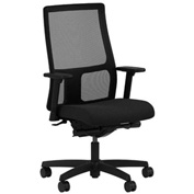 HON® Mesh Task Chair with Arms & Synchro Tilt - Fabric - Mid Back - Black - Ignition Series