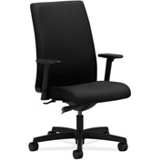 HON® HONIW114NT10 Ignition Adjustable Arm Mid-Back Task Chair Black Polyester