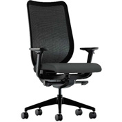 HON® Mesh Task Chair - Fabric - Iron Ore Seat, Black Back - Nucleus Series