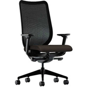 HON® Mesh Task Chair - Fabric - Espresso Seat, Black Back - Nucleus Series