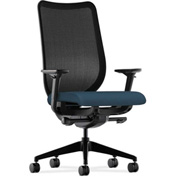 HON® Mesh Task Chair - Fabric - Cerulean Seat, Black Back - Nucleus Series