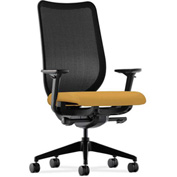 HON® Mesh Task Chair - Fabric - Mustard Seat, Black Back - Nucleus Series
