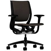 HON® HONRW101ONCU49 Purpose Adjustable Arm Mid-Back Task Chair Espresso Polyester