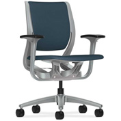 HON® HONRW101PTCU90 Purpose Adjustable Arm Mid-Back Task Chair Cerulean/Platinum