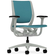 HON® HONRW101PTCU96 Purpose Adjustable Arm Mid-Back Task Chair Glacier Polyester