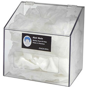 Horizon Mfg. 1-Compartment Clear Hair Net/Beard Cover/Shoe Cover/Arm Protector Dispenser