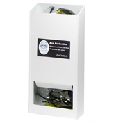 "Horizon Mfg. 20 Pair Visitor Safety Glasses Dispenser No Lid, 5144-W, 4""L"