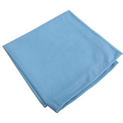 "Microworks Microfiber Towel for Glass/Mirror 15"" x 15"", Blue Suede 12/Pack- 2500S-B-DZ"