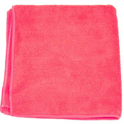 "Microworks Microfiber Terry Towel 16"" x 16"" 30GSM, Red 12 Towels/Pack - 2502-RED-DZ"