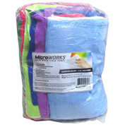 Microworks Microfiber Towels, Assorted 2lb. Bulk Bag - 2503-AC-BG