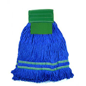 Microworks 15oz. Small Microfiber String Mop, Green - 2504-MFWP-15G