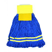 Microworks 15oz. Small Microfiber String Mop, Yellow - 2504-MFWP-15Y