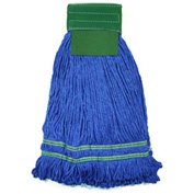 Microworks 22oz. Large Microfiber String Mop, Green - 2504-MFWP-22G