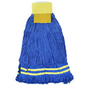 Microworks 22oz. Large Microfiber String Mop, Yellow - 2504-MFWP-22Y