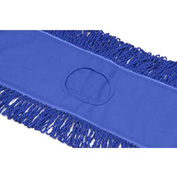 "Microworks 48"" Microfiber Canvas Back Dust Mop, Blue - 2506-MFDM-48B"