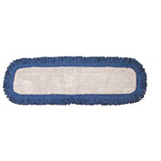 "Microworks 24"" Microfiber Touch Fasteners Dust Mop, Navy - 2506-MFVM-24 - Pkg Qty 12"