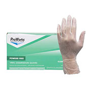 ProWorks® 4 Mil Exam Vinyl Powder-Free Disposable Gloves, Small, 100/Box, 10 Bxs/Case