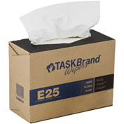 "Taskbrand Scrim Interfold Wipes 9-3/4"" x 16-3/4"", White 150 Wipes/Dispenser 6/Case - N-E025IDW"