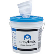 "Easy Task Centerpull Roll Bucket 12"" x 12"", White Rayon/Poly 90 Sheets/Roll 6/Case - N-ETPCBW"