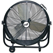 "Comfort Zone® CZMC24 Industrial Drum Fan 24"" 3 Speeds; High Velocity"