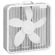 Comfort Zone® CZ200A 20 Inch Box Fan With Top Handle, White