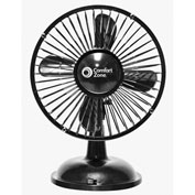 Comfort Zone® CZ6USB 6 Inch Oscillating Battery/USB Fan - Pkg Qty 6