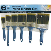 6-Piece 100% Poly Paint Brush Set - 2100/6 - Pkg Qty 12
