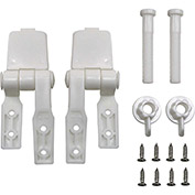 AquaPlumb® C0909 Plastic Toilet Seat Hinges - Two Pack - Pkg Qty 6