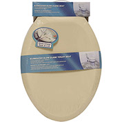 AquaPlumb® CSC380B Elongated Plastic Slow Close Toilet Seat W/ Cover, Bone
