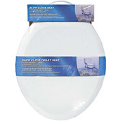 AquaPlumb® CSC90W Round Plastic Slow Close Toilet Seat W/ Cover, White