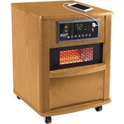 Comfort Zone® Premium Infrared Heater Wood Cabinet CZ2062O Oak W/ Remote 750/1500W 5120 BTU