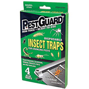 Pest Guard® Disposable Roach & Insect Glue Trap 4 Pack - GTM412G - Pkg Qty 12