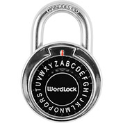 Howard Berger WordLock Letter Combination Padlock PL-127-CP - Combo Text Classic, Black - Pkg Qty 6