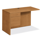 HON® 10500 Series Laminate Wood Desk Left Return Harvest