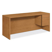 "HON® 10500 Series Single Pedestal Credenza Right 72""W x 24""D x 29-1/2""H Harvest"