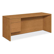 "HON® 10500 Series Single Pedestal Credenza Left 72""W x 24""D x 29-1/2""H Harvest"