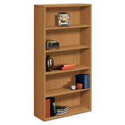 "HON® Bookcase Five-Shelf 36""W x 13-1/8""D x 71""H Harvest - 10500 Series"